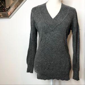 Vertigo Paris Wool Cashmere Blend V-neck Sweater L